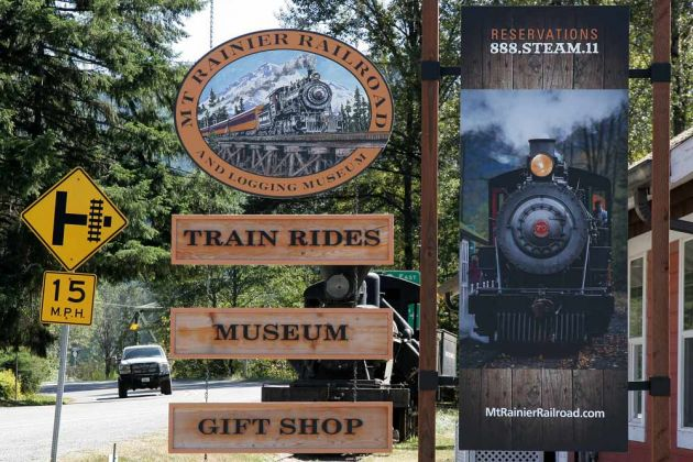Mount Rainier Scenic Railroad - Elbe, Washington State