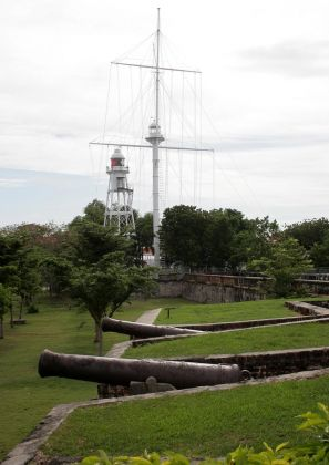 George Town, Malaysia - Flagstaff & Lighthouse 1884 + Lighthouse 1914