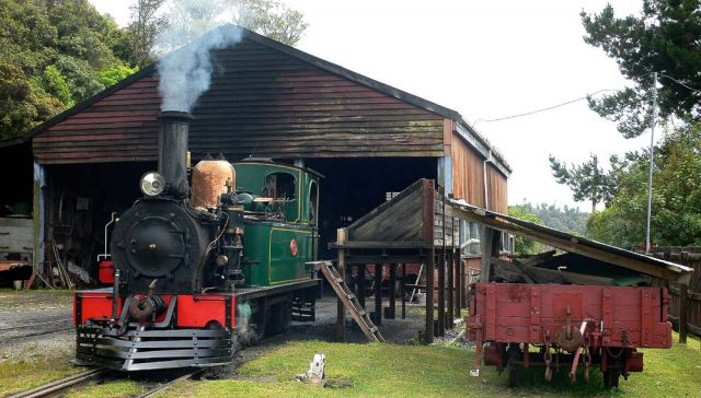 The Historic Bush Tramway - Shantytown Heritage Park, Greymouth, New Zealand