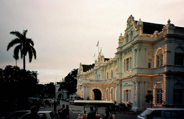 Die City Hall an der Waterrfont - George Town, Malaysia